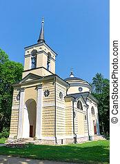 Village Spassky-lutovinovo. Church.