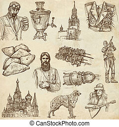 Russia travel - An hand drawn pack