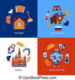 Russia travel flat set