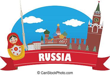 russia., turismo, y, viaje