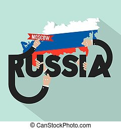Russia Typography Design Vector Illustration