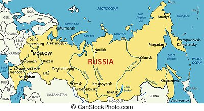Russia - vector map - Russian Federation - vector map