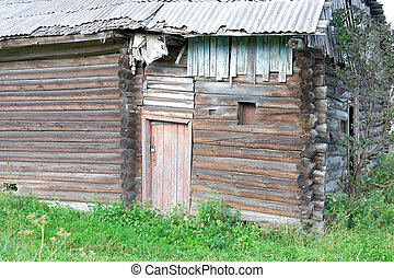 Old wooden house. Fragment.