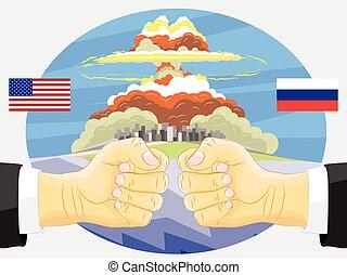 Russia vs America, Nuclear explosion