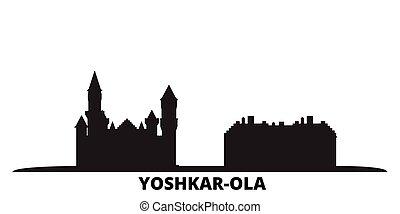 Russia, Yoshkar Ola city skyline isolated vector ...