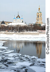 russian ποταμός , εκκλησία