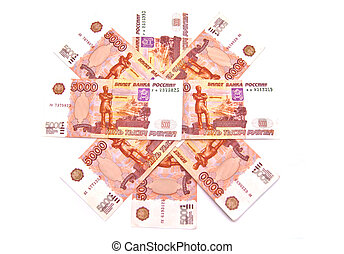 Russian 5000 rubles banknotes