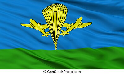 Russian Airborne Troops Flag Closeup View - Russian Airborne...