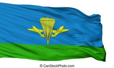 Russian Airborne Troops Flag Isolated Seamless Loop