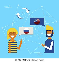 Russian and American online chat translation
