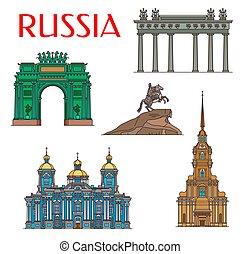 Russian architecture landmarks, Saint Petersburg