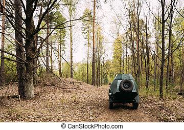 Russian Armoured Soviet Scout Car BA-64 Of World War II In Sprin