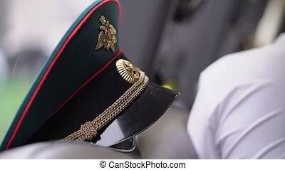 Russian army officer's cap hat