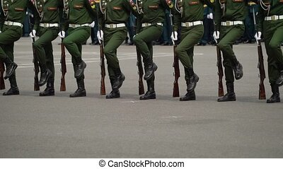 Russian army soldiers at parade