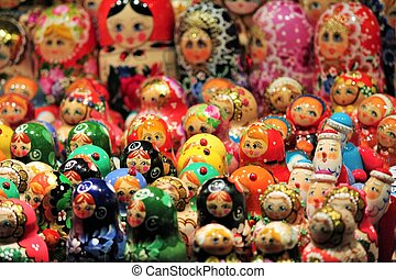 Russian Babushka doll at market