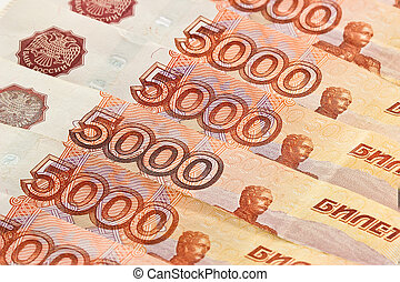 Russian banknotes. Background