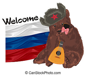 russian bear and objects