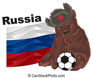 russian bear and soccer