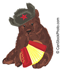 russian bear with harmonic