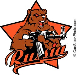 Russian Bear with Kalashnikov