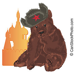 russian bear with Kremlin