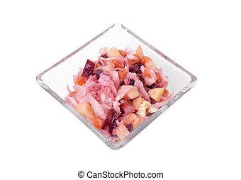 Russian beetroot salad.