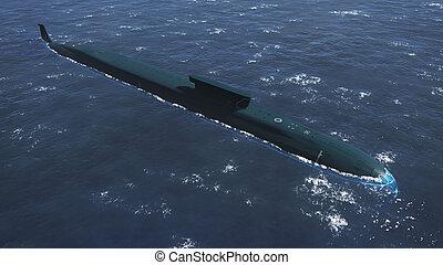 Russian Borei class submarine aerial view