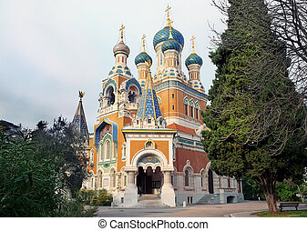 russian orthodox cathedral of the Moscow patriarchate in Nice, France