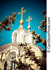 Russian church on Russian Court in Jerusalem