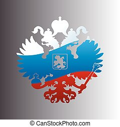 Russian coat of arms double-headed eagle emblem. Symbol
