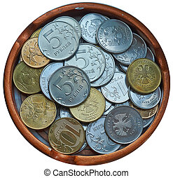 Russian coins.