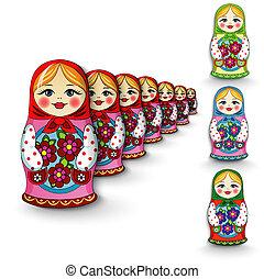 Russian doll matryoshka - Russian doll fun toy souvenir on a...