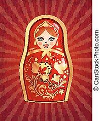 Russian doll, vector illustration, eps10