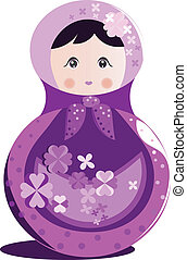 Russian doll vector - Matrioshka vector