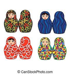 Russian dolls - matryoshka, set