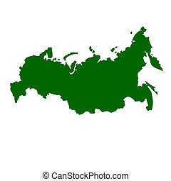 Russian Federation map isolated on white background.