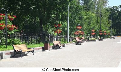 Russian Federation, Moscow, sunny day,  memorial to the defenders of the  motherland