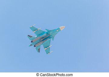 Russian fighter demonstration flight