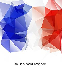 Russian flag. Abstract triangulation background. Bright. Texture. For your design.