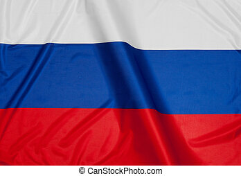 Close up of flag of Russia