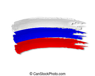 illustration of isolated hand drawn Russian flag