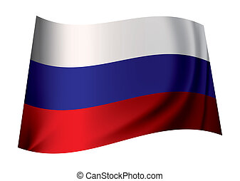 Russian flag - Flag of russia in red white and blue colours...