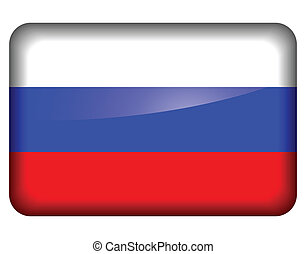 Russian flag icon - Vector illustration of russian flag icon...