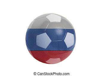 Russian Flag on Soccer ball