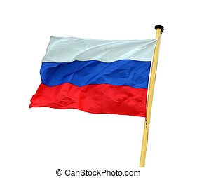 russian national flag isolated on white