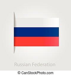 Russian flag, vector illustration