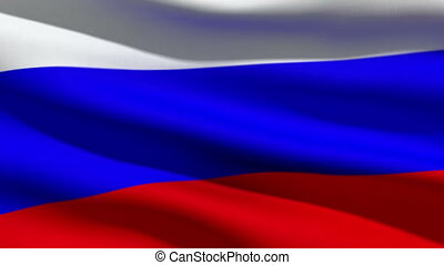 Russian flag, 3d animation. perfect seamless loop