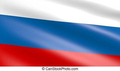 Russian Flag waving, animation