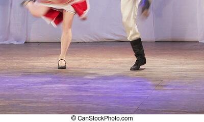 Russian folk dance on stage