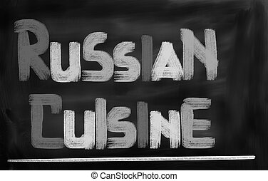 Russian Food Concept